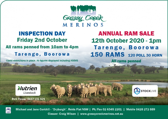 2020 Grassy Creek Open day and sale FB Advert